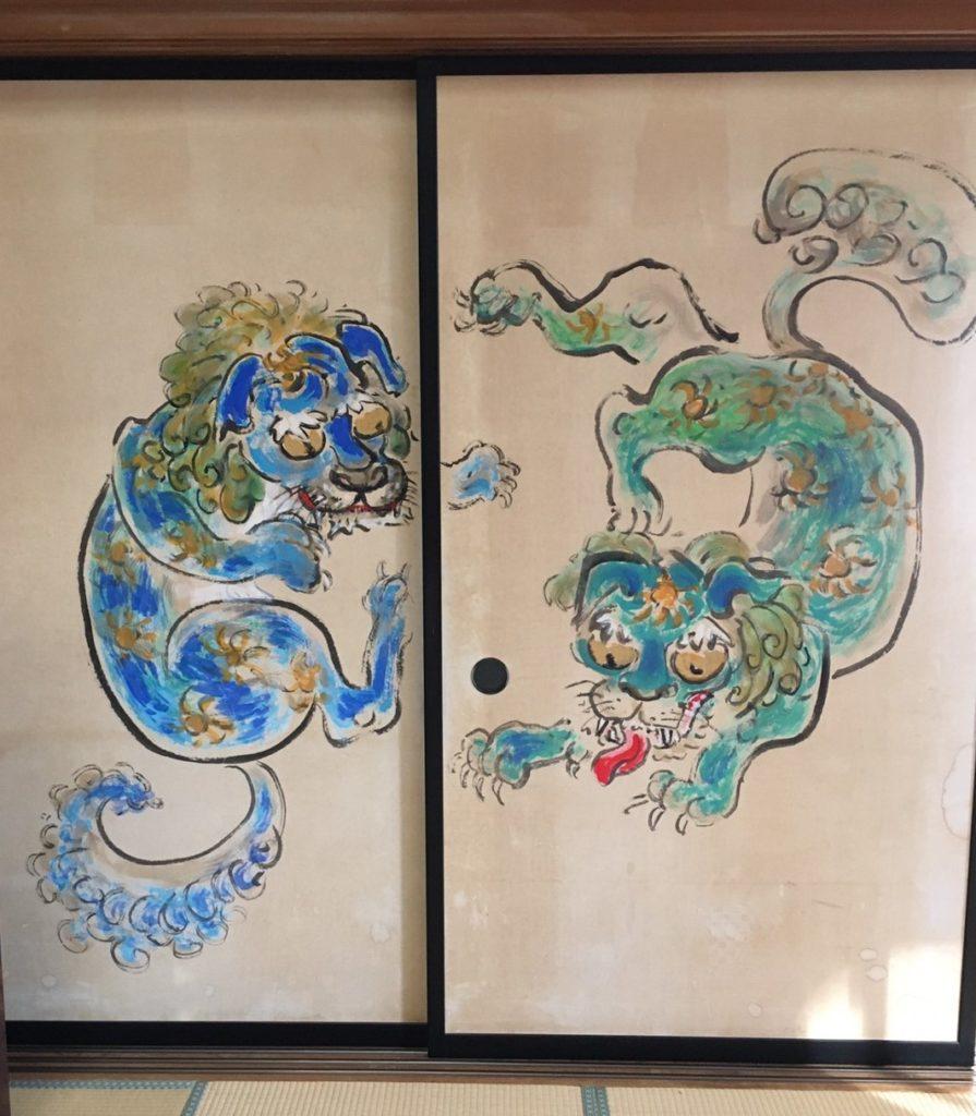 御岳山 御嶽神社 拝殿 襖絵